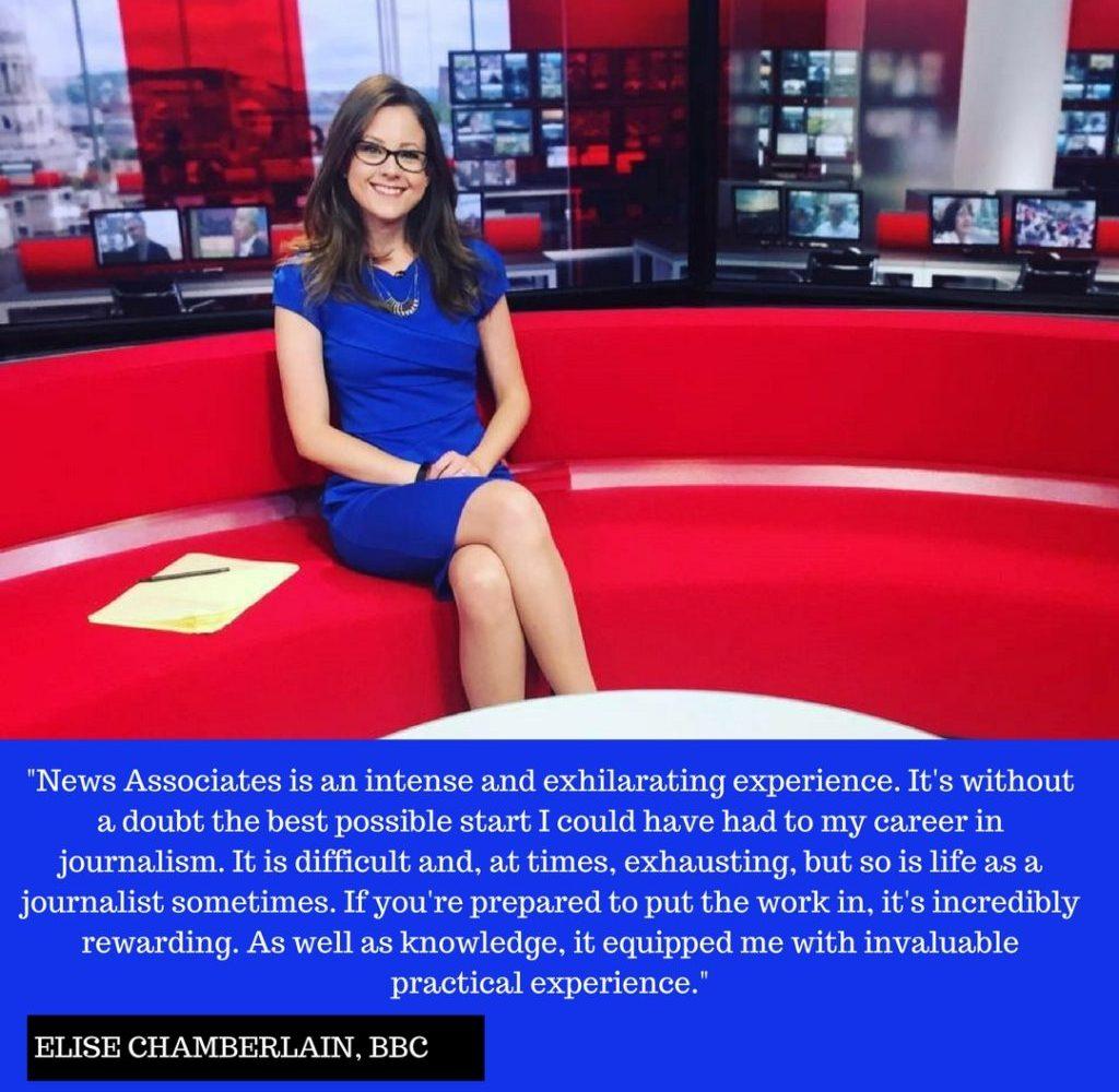 Elise Chamberlain BBC Instagram