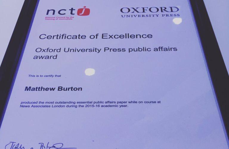 News Associates graduates dominate NCTJ Diploma in Journalism awards
