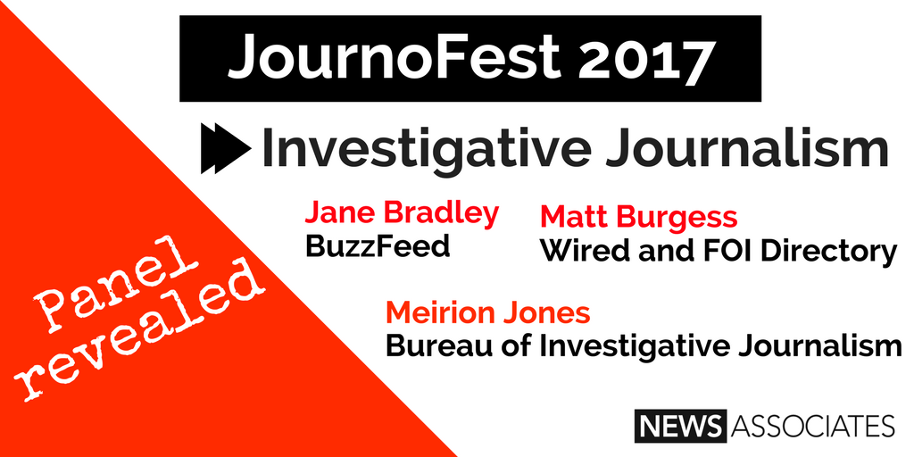Full line up revealed for news associates journofest 2017 for Bureau for investigative journalism