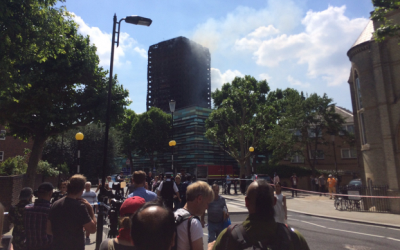 How my NCTJ journalism training prepared me for covering the Grenfell Tower fire