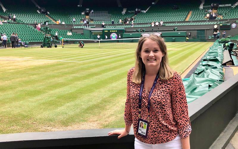 News Associates graduate covers Wimbledon