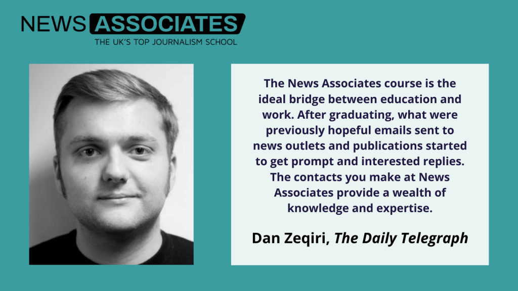 Dan Zeqiri explains why an NCTJ course is the ideal bridge between education and work.