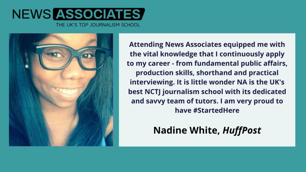 Nadine White explains why she thinks News Associates is the best NCTJ journalism school.