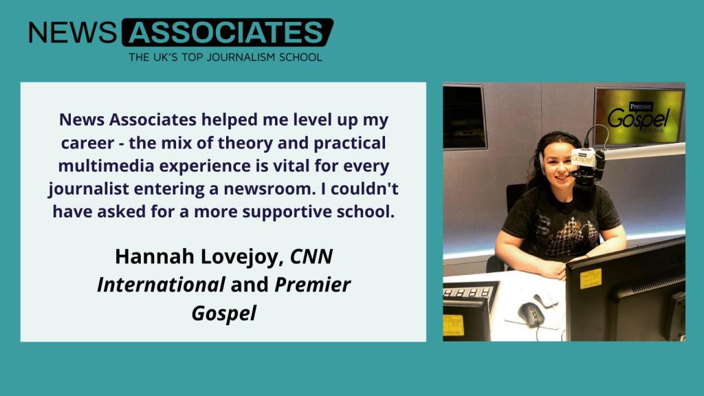 Hannah Lovejoy explains how the NCTJ helped her level up her career.