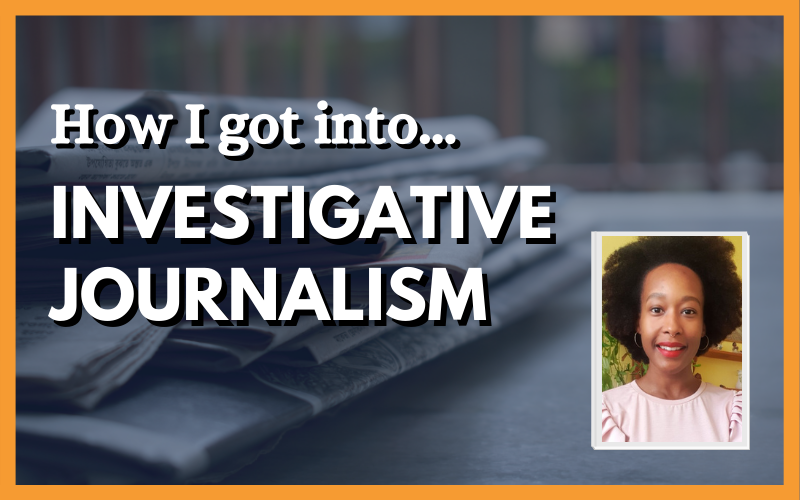 How I got into investigative journalism, with photo of Vicky on the right